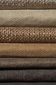 Katalog von braun mehrfarbigen stoff
