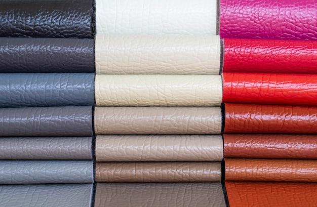Katalog von mehrfarbigem kunstleder aus mattierung stoff textur hintergrund, kunstleder stoff textur