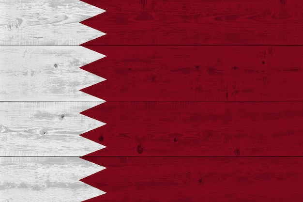 Katar flagge gemalt auf alten holzplanke