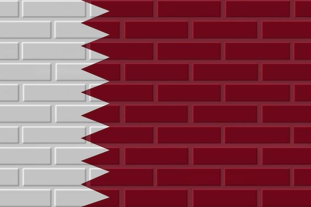 Katar ziegel flagge illustration