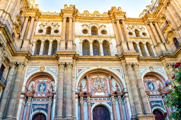 Kathedrale in malaga, andalusien, spanien