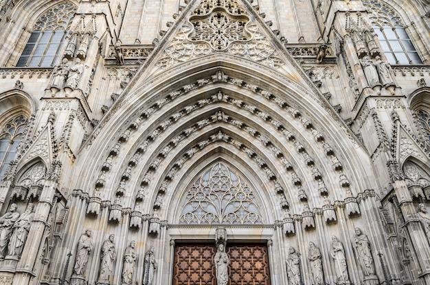 Kathedrale von barcelona, gotisches viertel der stadt.