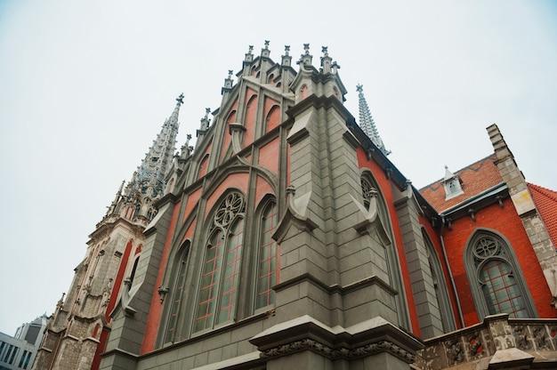 Katholische kirche im gotischen stil