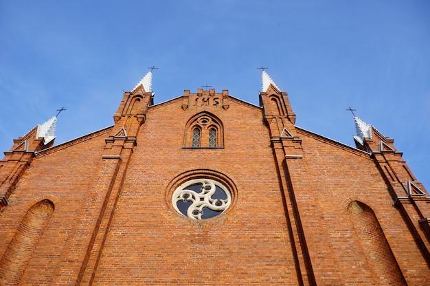 Katholische kirche von st andrew, naroch-dorf, minsk-region, weißrussland.