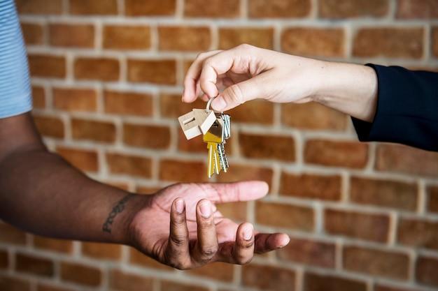 Kaufendes immobilienkonzept