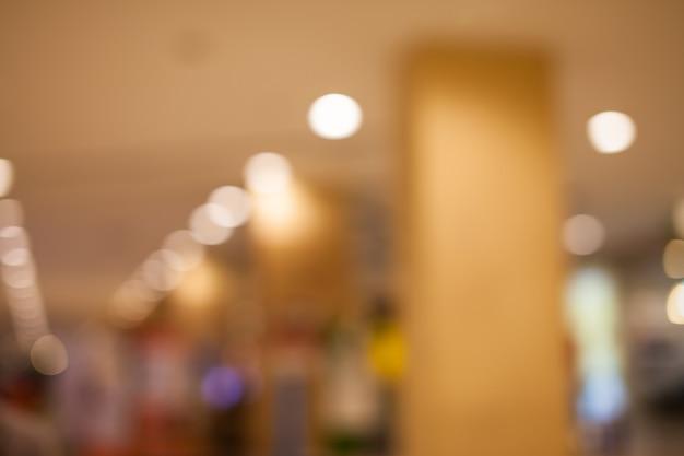 Kaufhaus-hintergrundunschärfe mit bokeh.