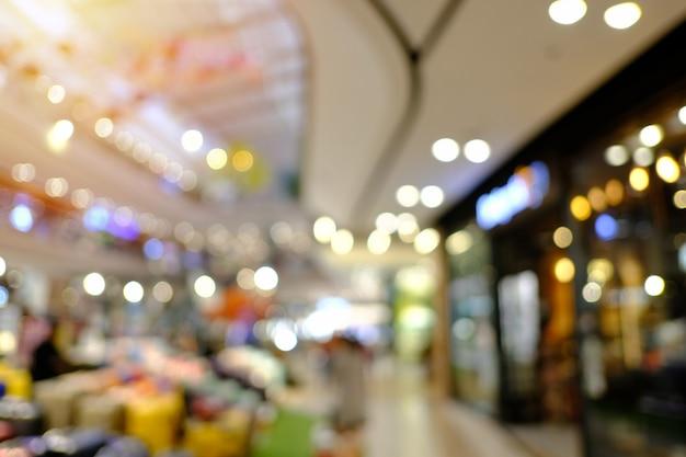Kaufhaushintergrundunschärfe mit bokeh