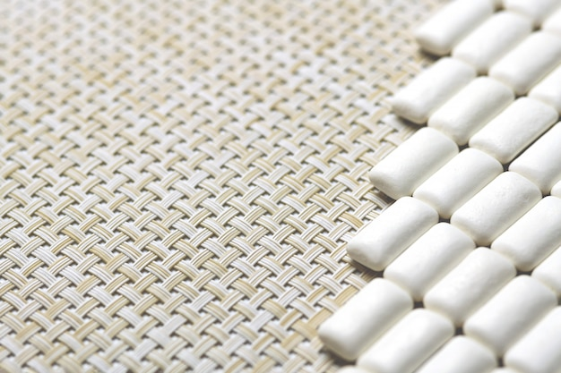 Kaugummibündel mit kopienraum, zähne schützen konzept