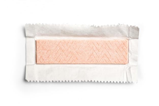 Kaugummiplatte eingewickelt in der folie getrennt