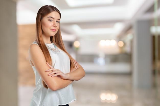 Kaukasisches geschäftsfrauportrait