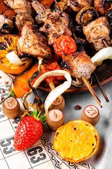Kebabs und lottospiel
