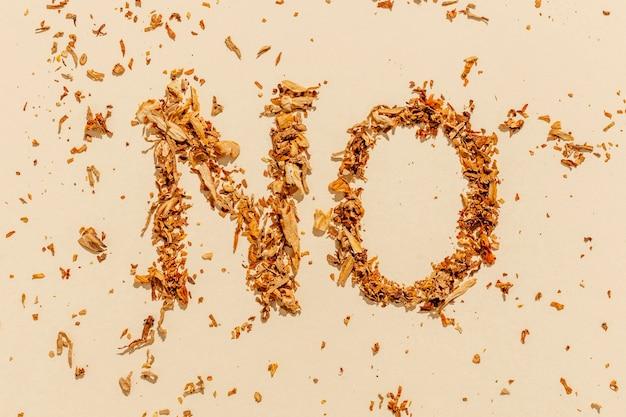 Keine nachricht für rauchgewohnheiten