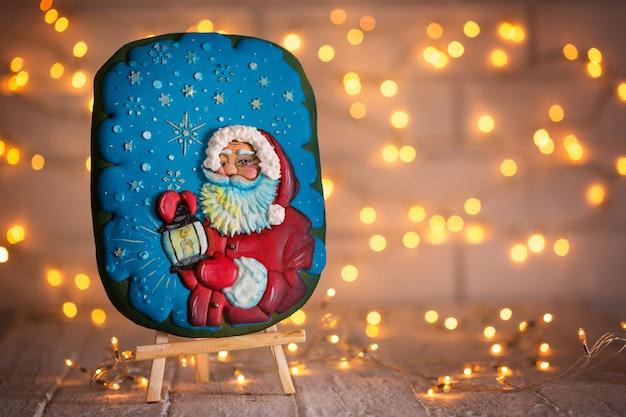 Keks mit dem bild von santa