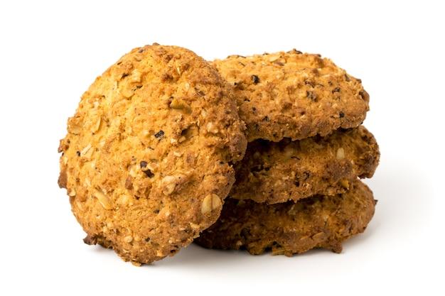 Kekse auf weiß