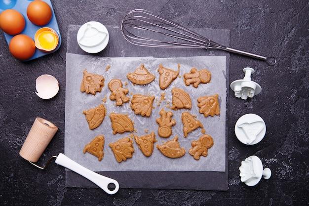 Kekse in form rakete machen