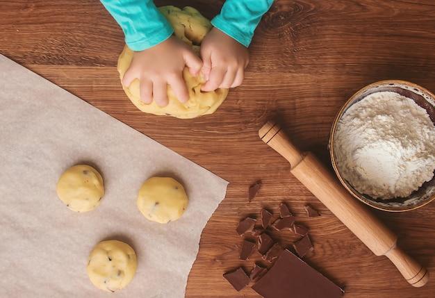 Kekse, kuchen, selbst kochen. selektiver fokus
