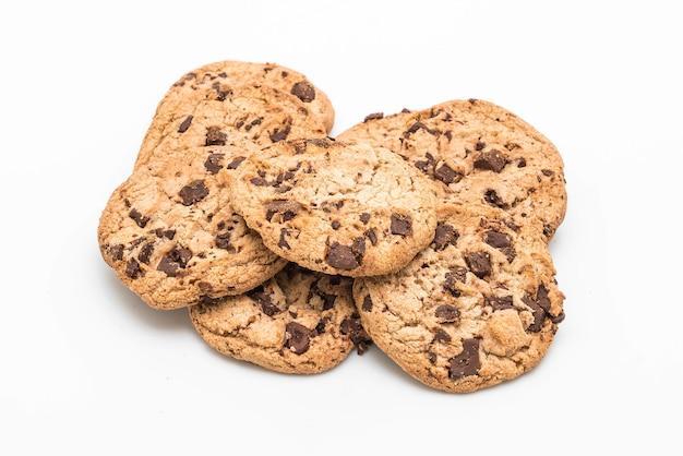 Kekse mit dunklen schokoladenstückchen