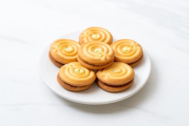 Kekse mit pandancreme