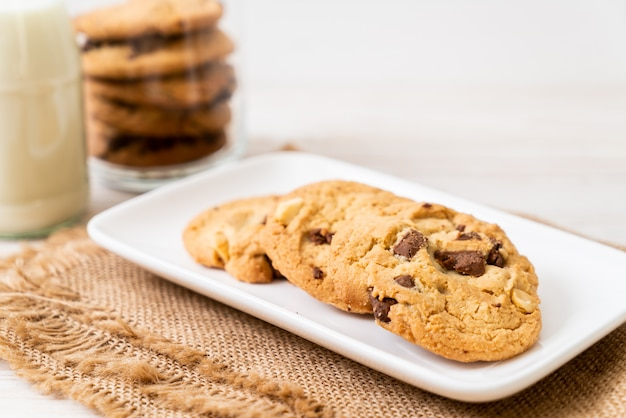 Kekse mit schokoladenstückchen