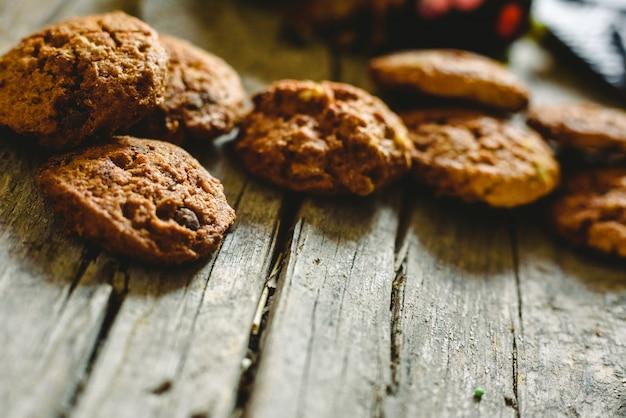 Kekse und schokoladenkekse für feste und urlaub.