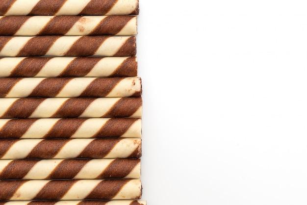Kekswaffeln kleben an schokoladencreme