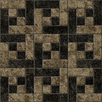 Keramikfliesen mit geometrischem muster und natürlicher granitstruktur.