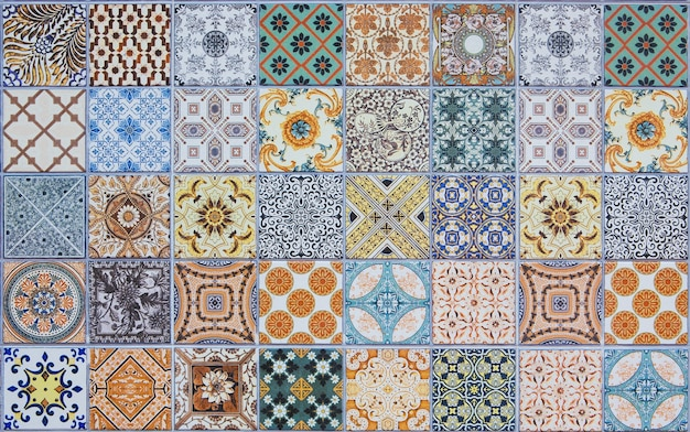 Keramikfliesen muster aus portugal.