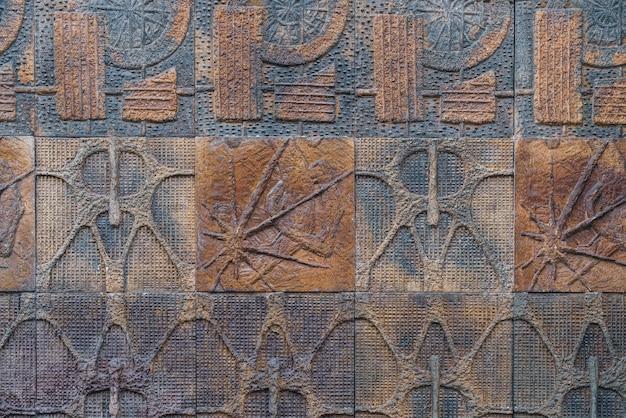 Keramikfliesenhintergrund mit abstrakten motiven