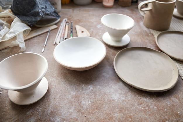 Keramikstudio der prozess der herstellung von keramik