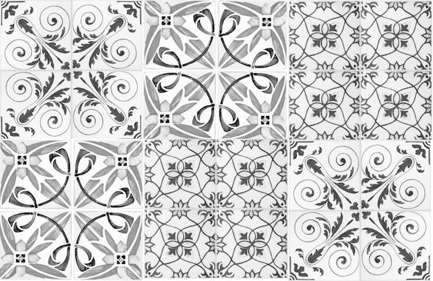 Keramische fliesenwanddekoration der weinlese türkische keramikfliesen ummauern hintergrund
