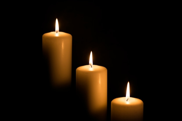 Kerze, kerzenlichtkomposition verschiedene rituale.