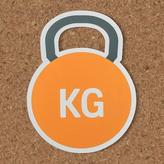 Kettlebell schwere gewicht anhebende ikone
