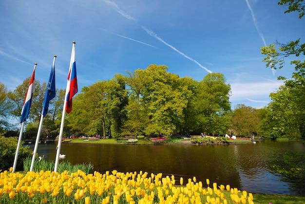 Keukenhof park teich, lisse niederlande