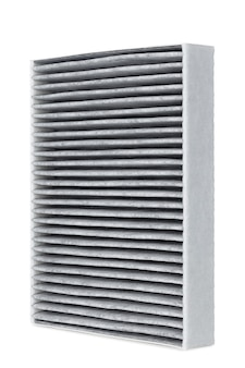 Kfz-filter isoliert auf weiß, nahaufnahme