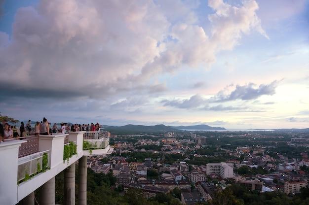 Khao rang hill terrasse aussichtspunkt
