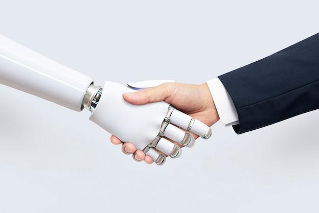 Ki-hintergrund-business-technologie, digitale transformation