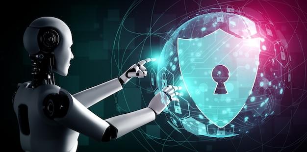 Ki-roboter nutzt cybersicherheit zum schutz der privatsphäre information