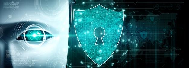 Ki-roboter nutzt cybersicherheit zum schutz der privatsphäre