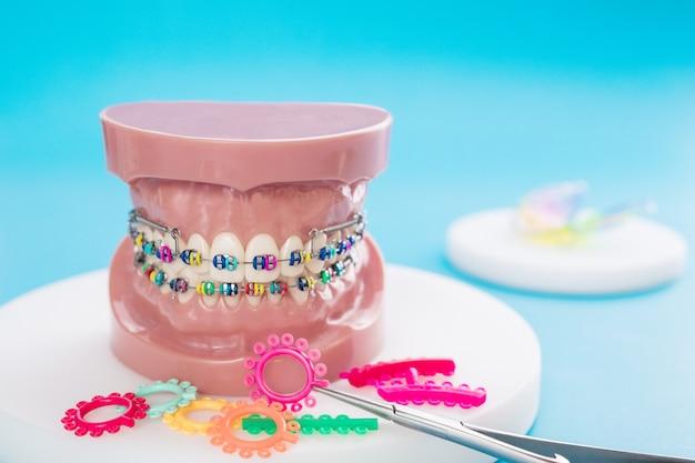 Kieferorthopädisches modell und zahnarztwerkzeug