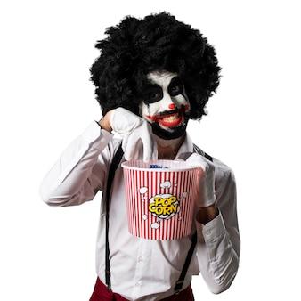 Killer clown essen popcorns