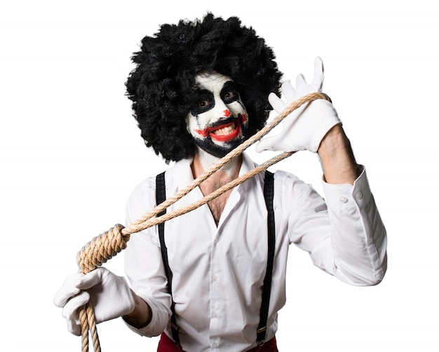 Killer-clown mit slipknot