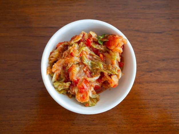 Kimchi, das berühmteste koreanische traditionelle essen.