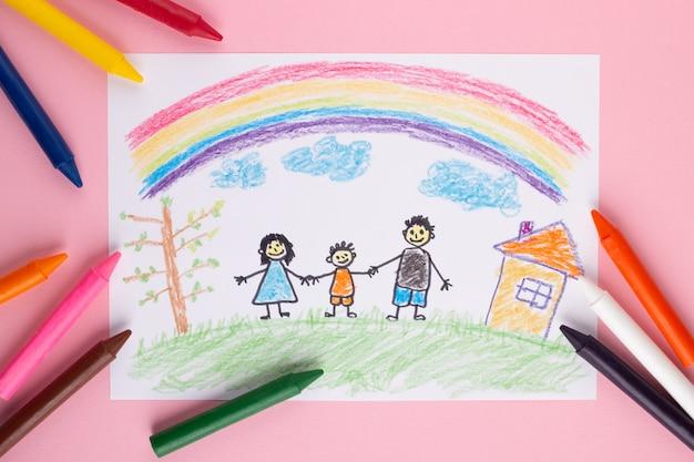 Kind gezeichnetes bild