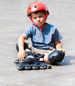 Kind rollerbladin