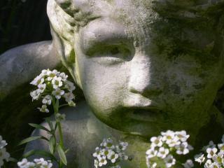 Kind statue, engel