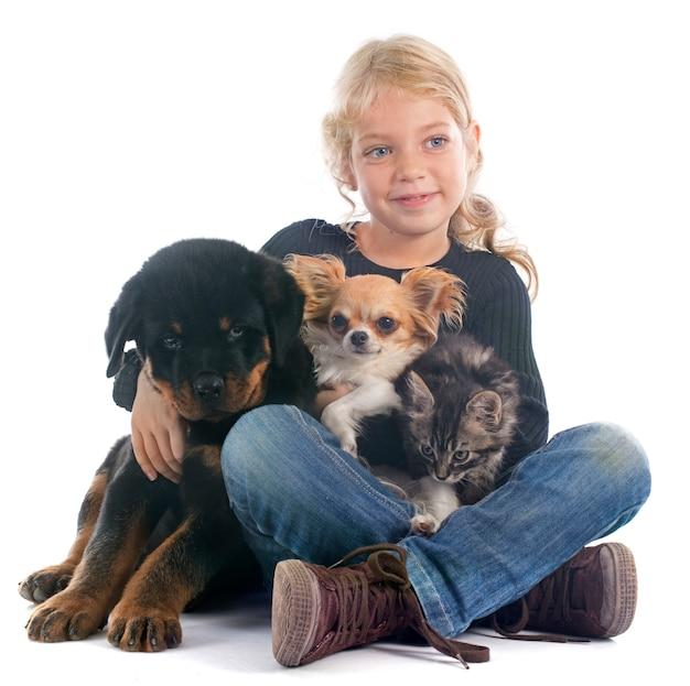 Kind und hunde