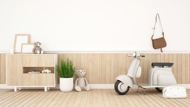Kinderraum oder wohnzimmer - wiedergabe 3d