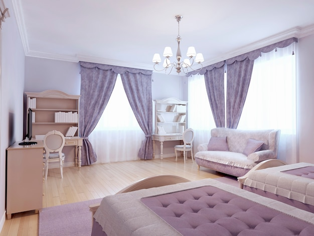 Kinderzimmer im neoklassizistischen stil