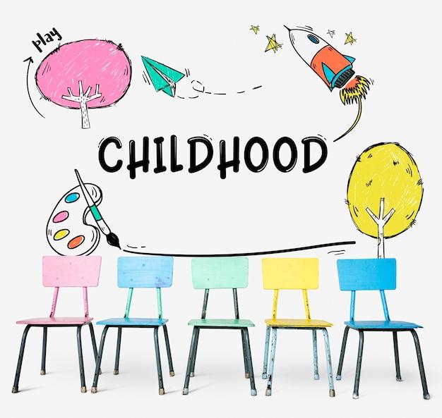 Kindheit kinder jugendkonzept