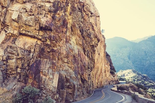 Kings river canyon im kings canyon und im sequioa national park. kalifornien. usa
